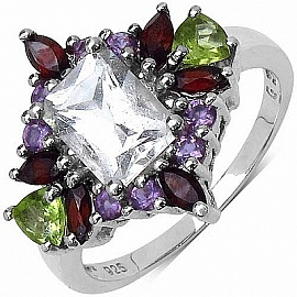 from Johareez Ruby Rounds .925 Sterling Silver Cluster Pendant 1.45ctw