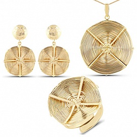 dcaa5a7b7d Gold Plated Exquisite Brass Wired Pendant Set for Women. Sale: Rs. 1210