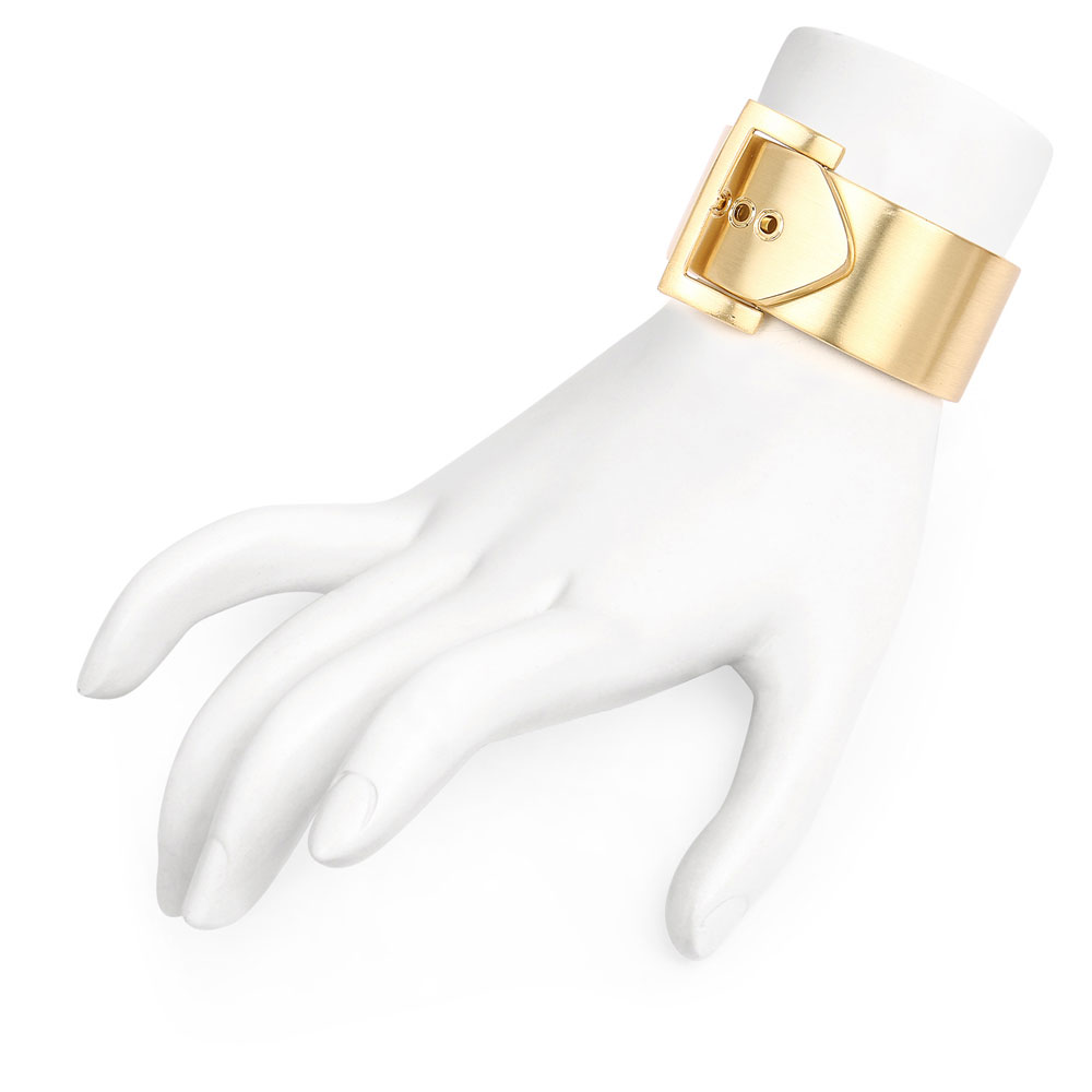 Gold Plated Belt Shape Trendy Hand cuff Kada