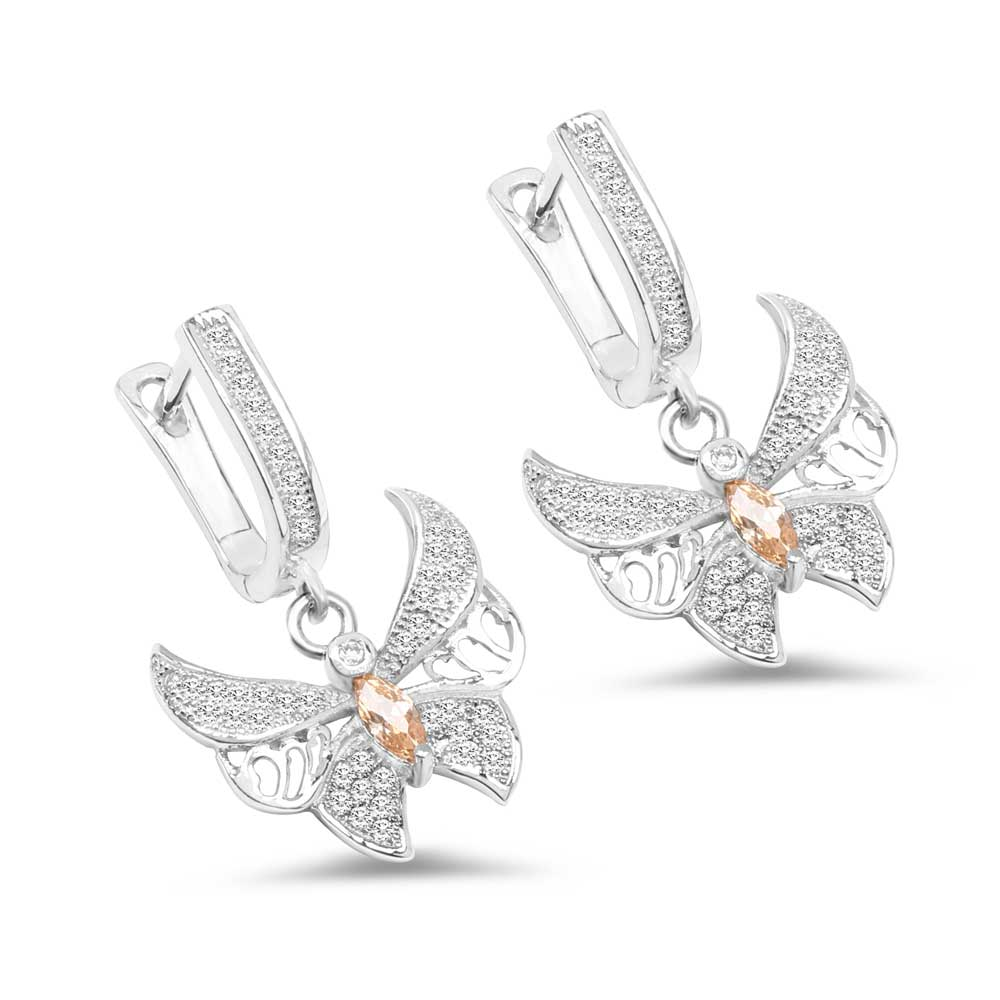 Yellow Cubic Zirconia & White Cubic Zirconia .925 Sterling S