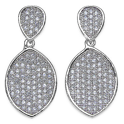 3.80 Grams Micro Pave Setting American Diamond Rhodium Plate