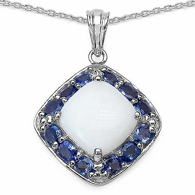 6.54CTW Genuine Opal & Tanzanite .925 Sterling Silver  Penda