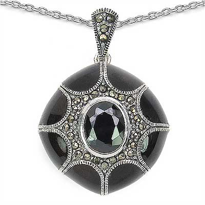 10.02 Grams Marcasite & Purple Cubic Zircon .925 Sterling Si